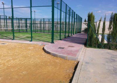 Pista de pádel. Colegio Colegio Adharaz-Altasierra