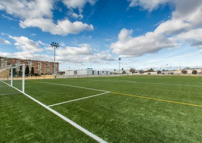 Ejecución de nuevo campo de fútbol